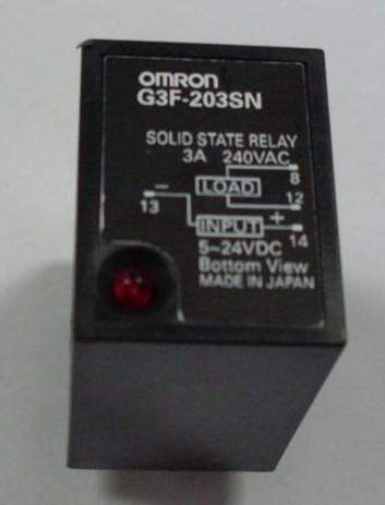欧姆龙固态继电器g3f-203sn dc5-24v图片
