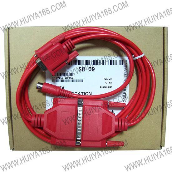 公司供应SC 09 RS232 接口的三菱 PLC编程电缆